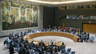 FILE: The UN Security Council holds a meeting on the Middle Eastin this Wednesday, Nov. 20, 2019 file photo, at United Nations headquarters