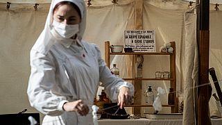 Spanische Grippe - nachgestellt