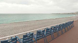 Una playa desierta en Niza