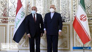 فواد حسین، وزیر امور خارجه عراق و همتای ایرانیاش محمد جواد ظریف
