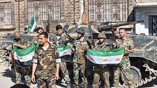 گروهی از سربازان ارتش آزاد سوریه در حمص در ماه مه ۲۰۱۲