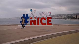 The Promenade des Anglais in Nice is almost deserted during this first weekend of confinement as the region battles an increasingly worrying number of Covid-19 cases.