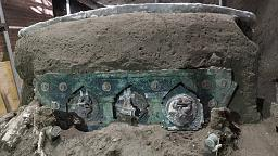 Archeologists discover intact ceremonial chariot in ruins near Pompeii