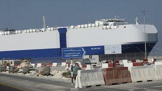 کشتی اسرائیلی در بندر دبی