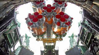 منصة الإطلاق في قاعدة بايكونور الفضائية المؤجرة في كازاخستان- وكالة الفضاء الروسية