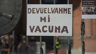 Protesta contra las vacunas VIP en Buenos Aires