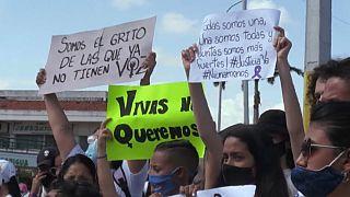 Manifestación contra los feminicidios en Venezuela