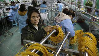 Çin'de bir fabrika