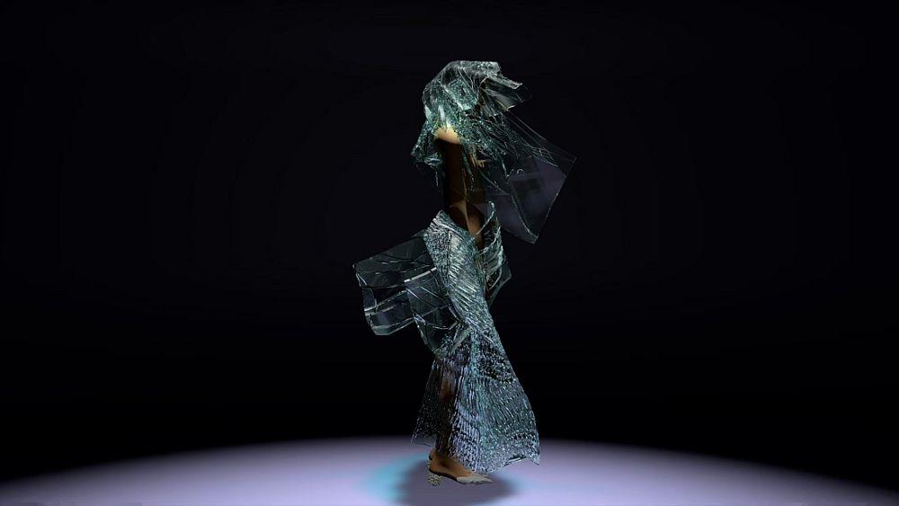Dress made of algae and designed using algorithms wins Louis Vuitton award
