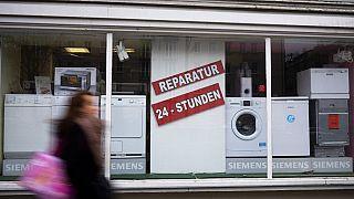 Una tienda de electrodomésticos alemana el pasado viernes