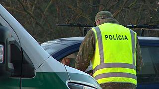 I controlli della polizia slovacca.