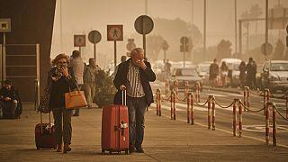 Пыль из Сахары в Европе