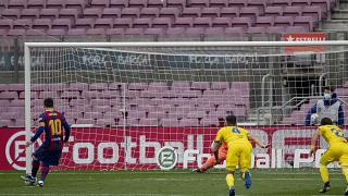 صورة مباراة لفريق برشلونة