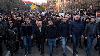 تظاهرات مخالفان دولت در ارمنستان