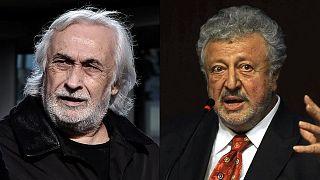 Sanatçılar Müjdat Gezen (sol) ve Metin Akpınar