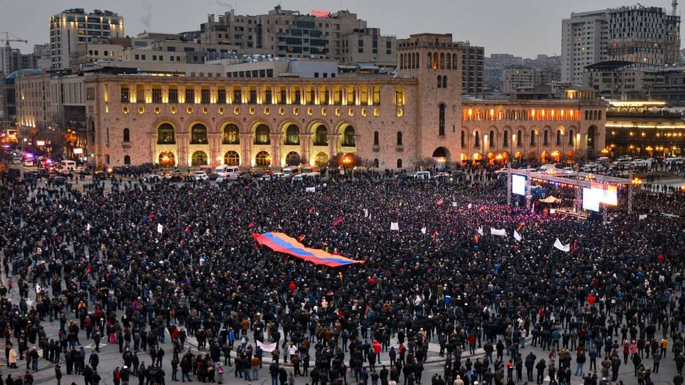 Amid political unrest, Armenia's PM says he's ready for snap elections