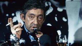 Serge Gainsbourg en 1986, lors d'une campagne de promotion pour une marque de cigarettes
