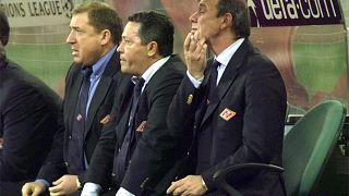 Олег Романцев на матче Лиги чемпионов в 2001 году