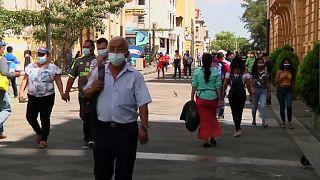 Imágenes de una calle céntrica de San Salvador