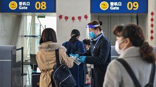 مطار تيانخه الدولي في ووهان بمقاطعة هوبى بوسط الصين