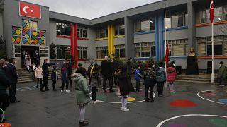 Virus Outbreak Turkey Schools Reopen