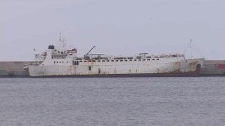 """Navio """"Karim Allah"""" com 900 vitelos a bordo no porto de Cartagena"""