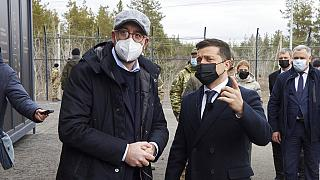 Charles Michel an der ukrainischen Front