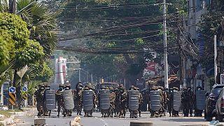 تظاهرات در میانمار