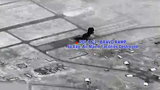 صور توثق لحظة سقوط الصواريخ الباليستية الإيرانية على قاعدة عين الأسد في العراق ردا على اغتيال سليماني وأبو مهدي المهندس