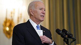 Joe Biden faisant le point sur l'évolution de la situation sanitaire, 2 mars 2021