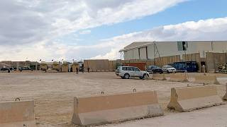 قاعدة عين الأسد الجوية العسكرية التي تضم قوات أمريكية وأجنبية أخرى في محافظة الأنبار بغرب العراق.