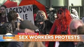 Sex workers protest in The Hague, Netherlands