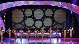 صورة من الارشيف - متسابقات في مسابقة ملكة جمال بنما