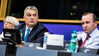 Orbán Viktor Manfred Weberrel, az Európai Néppárt frakcióvezetőjével 2018. szeptemberében