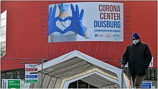مركز علاج كورونا في دويسبورغ ، ألمانيا.