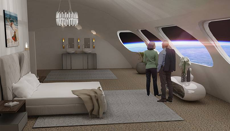 A rendering of what the Voyager's luxury suites could look like