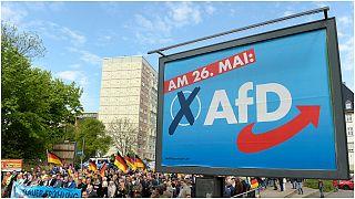 """مناصرون  لحزب """"البديل من أجل ألمانيا"""" في مدينة إيرفورت/ألمانيا ، 1 مايو 2019"""
