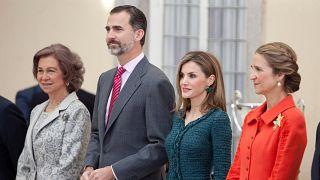 İspanya Kralı VI. Felipe ile kraliyet ailesinin diğer üyeleri