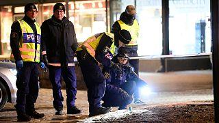 پلیس سوئد در حال بررسی محل حادثه