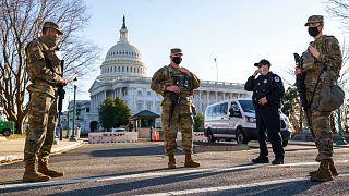 تدابیر امنیتی در اطراف ساختمان کنگره
