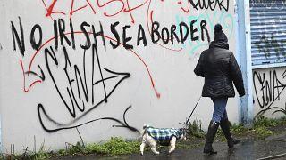 دیوارنگاره ای در بلفاست در ایرلند شمالی