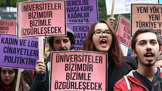 Ankara'da öğrenci protestosu