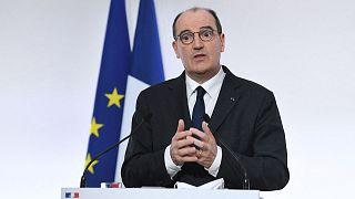 Le Premier ministre français, Jean Castex, lors d'une conférence de presse sur la pandémie de Covid-19, à Paris, le 4 mars 2021
