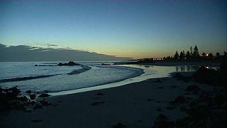 Küste in Neuseeland nach dem starken Erdbeben am 04.03.2021