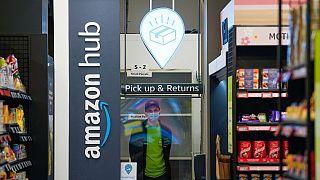 """Le supermarché """"Amazon Fresh"""" installé à Londres (Royaume-Uni), le 04/03/2021"""