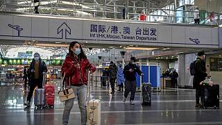 Pekin Uluslararası Havalimanı'ndan bir kare.