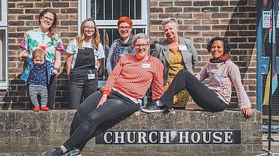 Original team of volunteers at Food Rescue Hub, UK