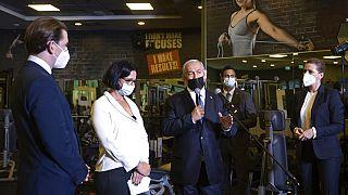 Im Fitness-Studio in Israel: Sebastian Kurz, Benjamin Netanjahu und Mette Frederiksen