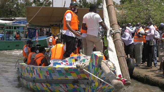 Kenya is renewing waste campaigns using recycled plastic dhow