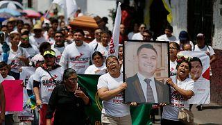 تشییع جنازه یک نامزد انتخابات شهرداریها در مکزیک که در ماه مه ۲۰۱۸ به قتل رسید